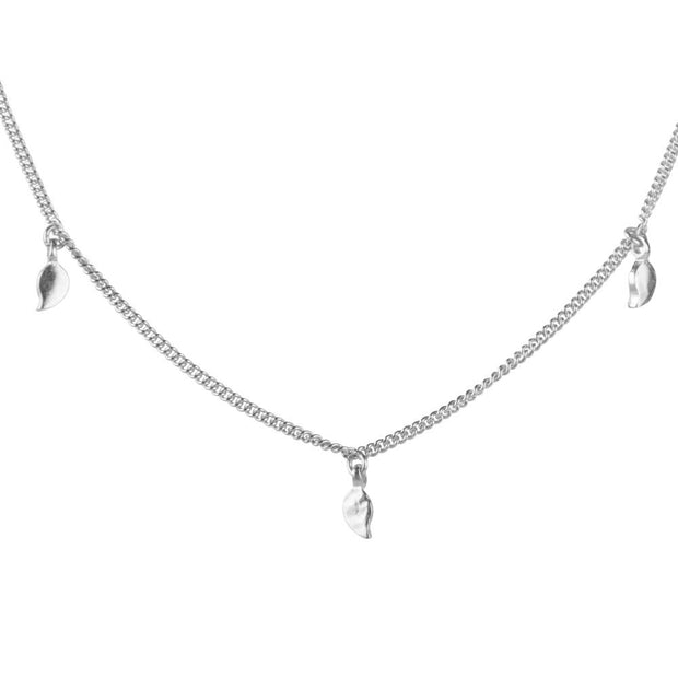 Fairley - Leaf Charm Necklace - Silver