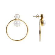 Fairley Pearl Double Dutch Earrings - Gold
