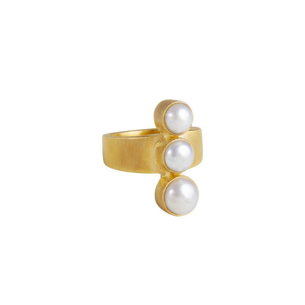 Fairley Pearl Cascade Ring - Gold