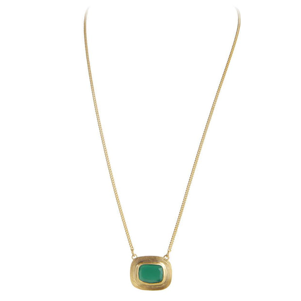 Fairley Samara Green Agate Forest Necklace