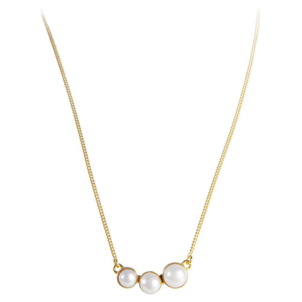 Fairley Pearl Cascade Necklace - Gold