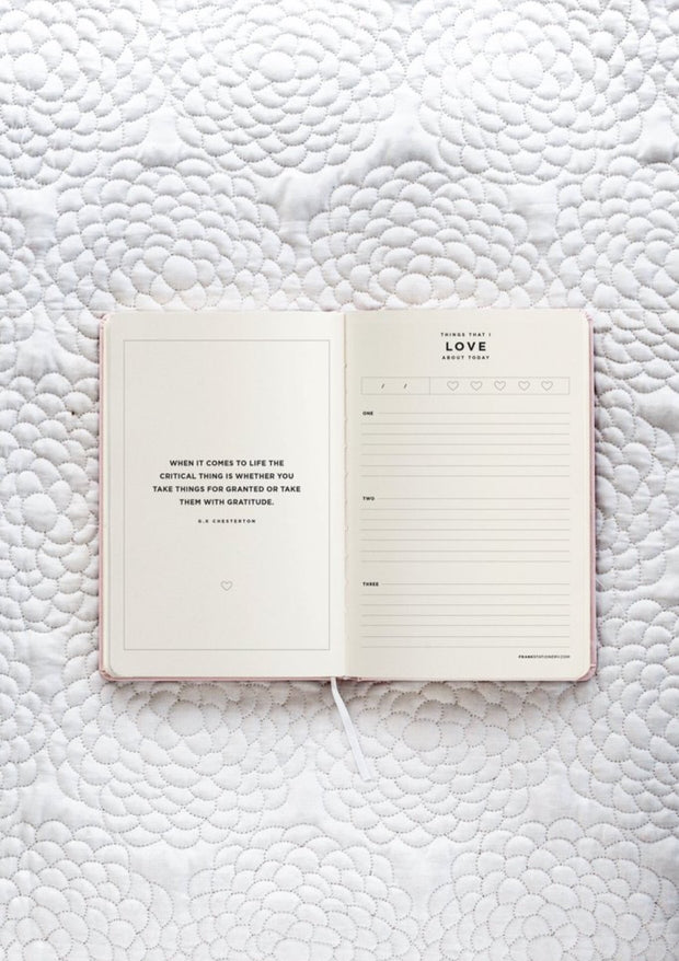 A5 Gratitude Journal - Blush