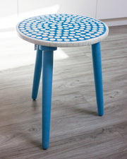 Bone Inlay Polka Dot Side Table