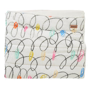 Kip & Co - Chalkboard White Quilted Cot Bedspread