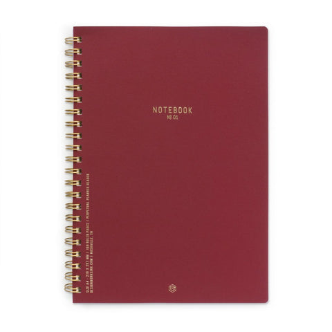 No.01 Burgundy - Large Textured Notebook