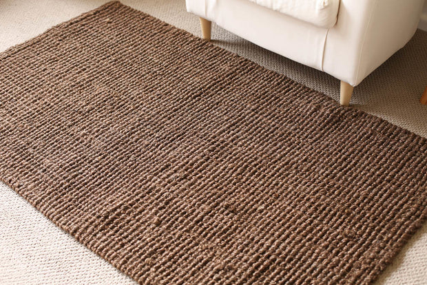Estate Jute Rug - Dark Brown