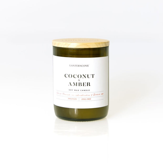 Lantern Cove - Jade 9oz Coconut & Amber Candle