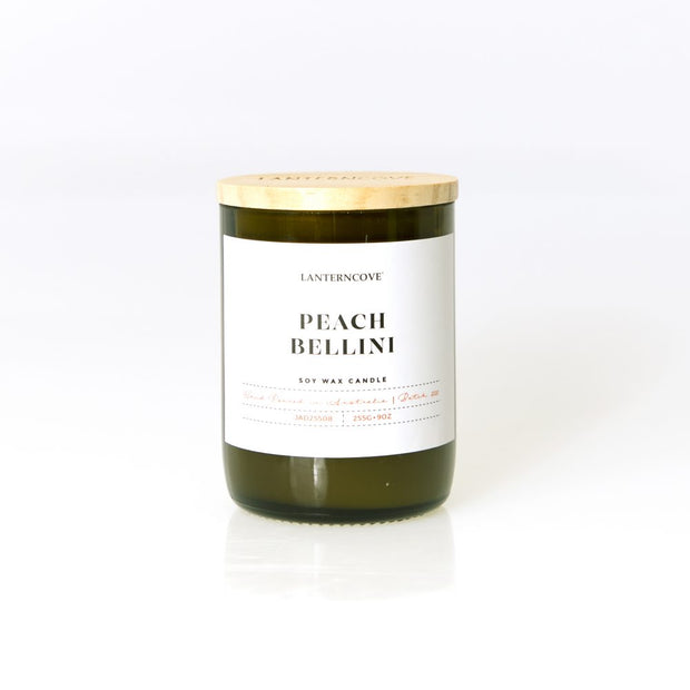 Lantern Cove - Jade 9oz Peach Bellini Candle