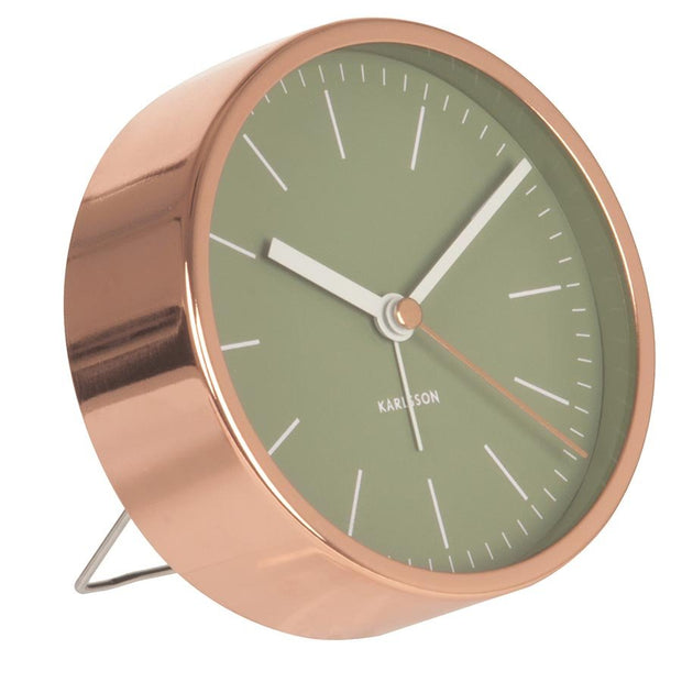 Copper Alarm Clock - Green
