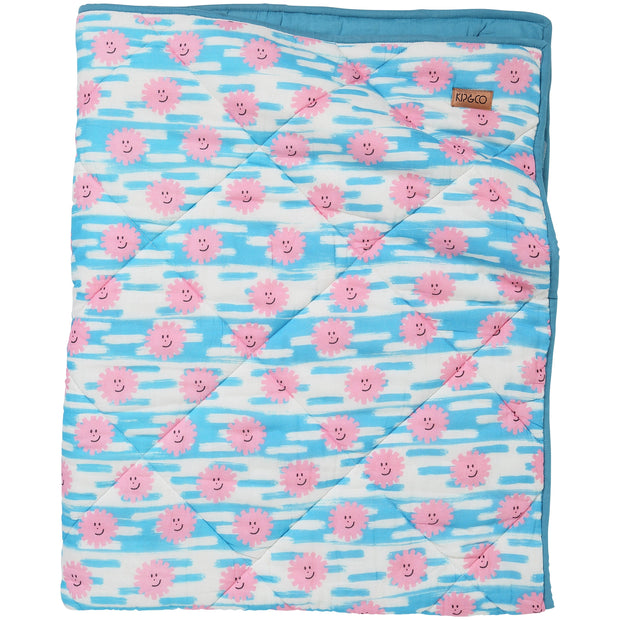 Kip & Co - Happy Days Cotton Quilted Cot Bedspread