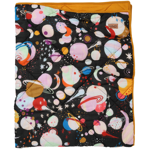 Kip & Co - Planet Kip Cotton Quilted Cot Bedspread