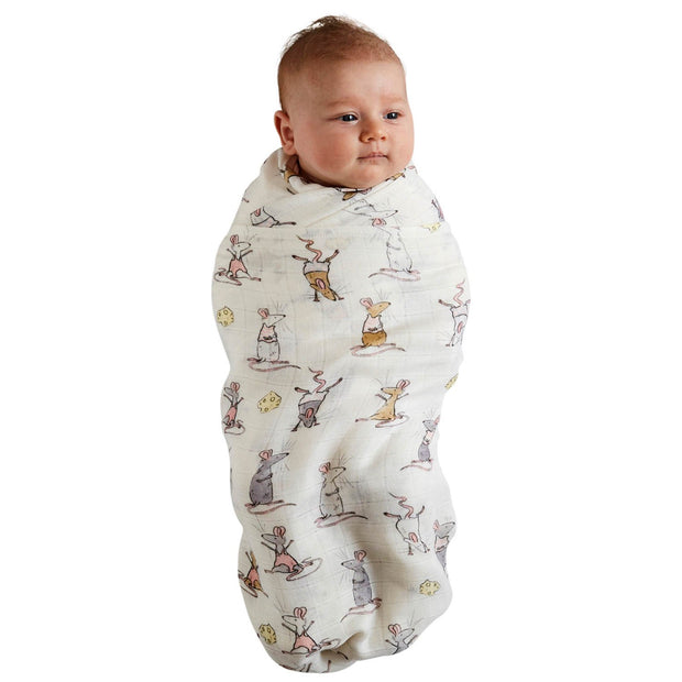 Kip & Co - Mousing Around & Flour Leaf Clover Bamboo Swaddle Set
