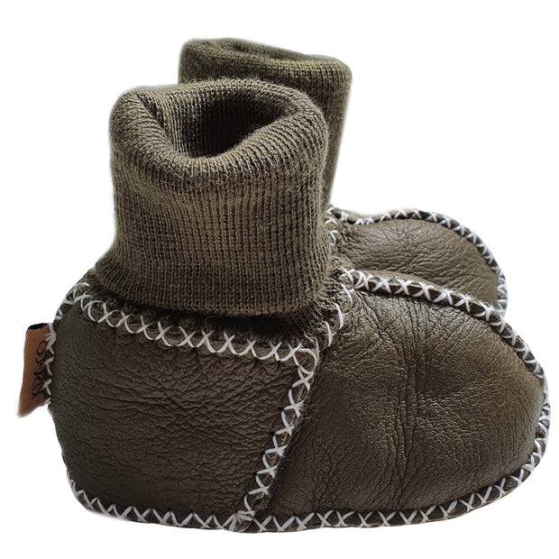 Kip & Co - Zucchini Green Baby Booties