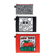 LOQI - Zip Pocket Museum Collection (Set of 3): Keith Haring