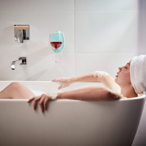 Sipski - Shower Wine Holder - Sea Foam