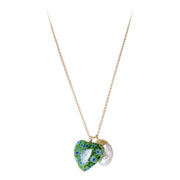 Fairley - Verde Love Pearl Pendant Necklace