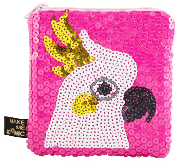 Iconic Sequin Purse- Cockatoo