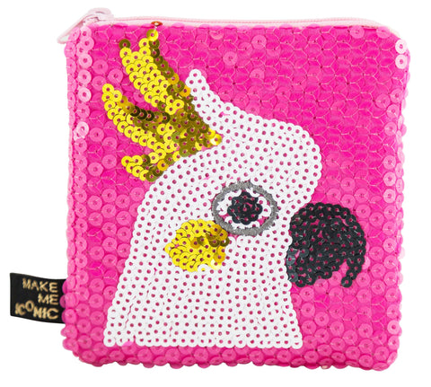 Make Me Iconic Cockatoo Sequin Purse