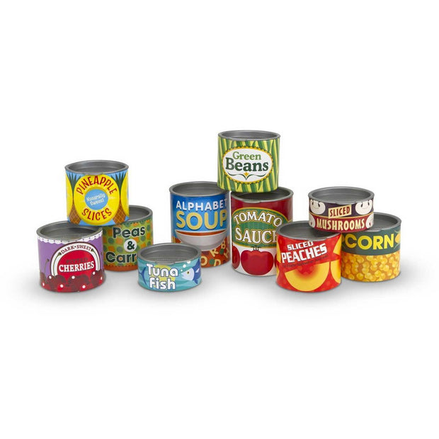 Play Food Cans – Set Of 10