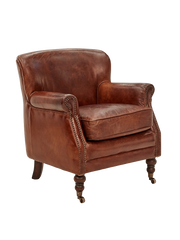 Mortimer Armchair in Aged Leather