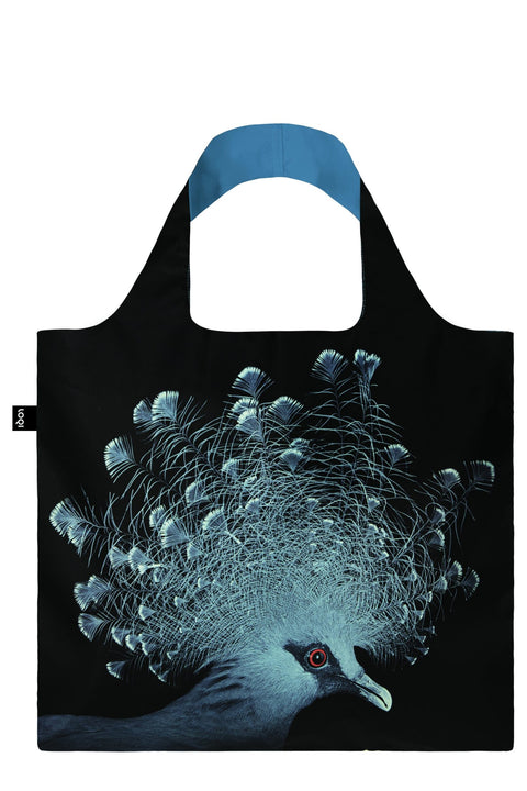 LOQI - Shopping Bag: National Geographic Collection - Crowned Pigeon