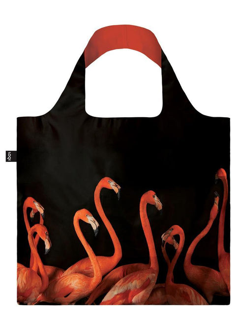 LOQI - Shopping Bag: National Geographic Collection - Flamingos