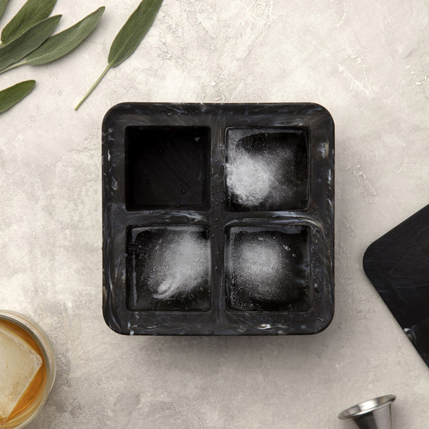 Peak - Ice Cube Tray Extra Large in Black Marble