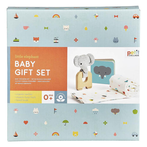 Petit Collage - Little Elephant Gift Set