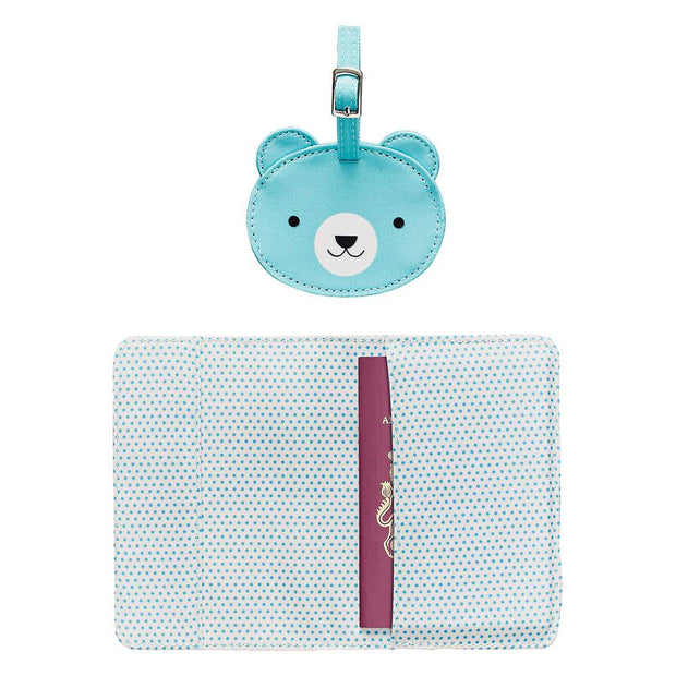 Petit Collage - Baby Bear Passport Cover and Luggage Tag Set
