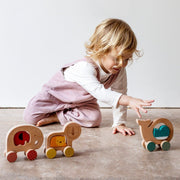 Petit Collage - Wooden Push Along Elephant Toy