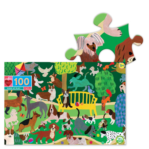 eeBoo - Dogs at Play 100 Piece Puzzle