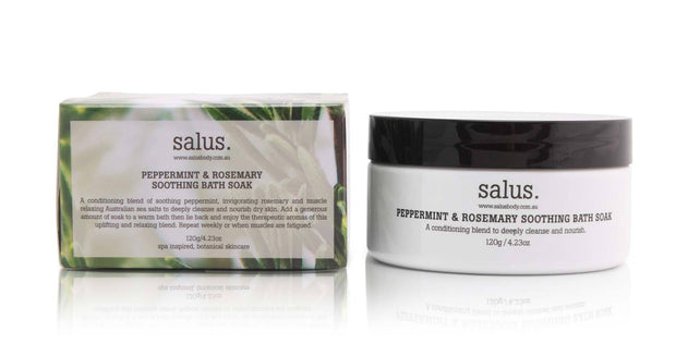 Salus - Peppermint & Rosemary Soothing Bath Soak 120g