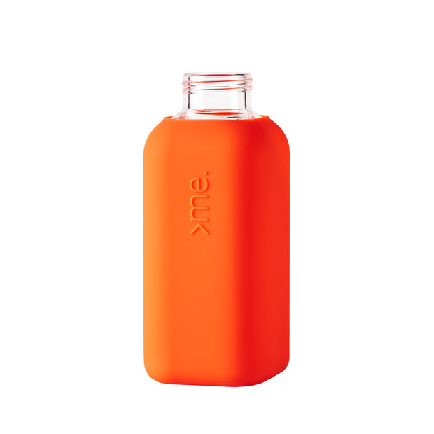 SquireMe - Chromatic Collection: Coral Glass Water Bottle