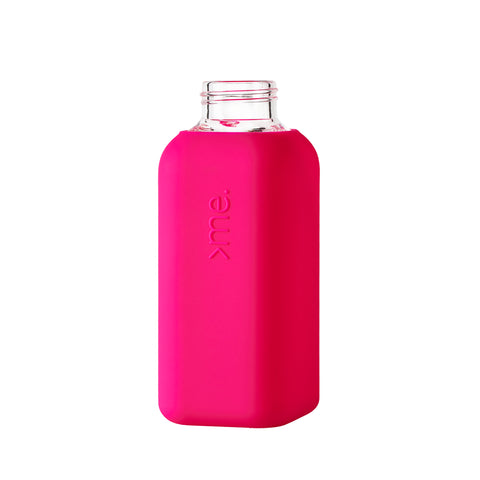 SquireMe - Chromatic Collection: Pink Glass Water Bottle