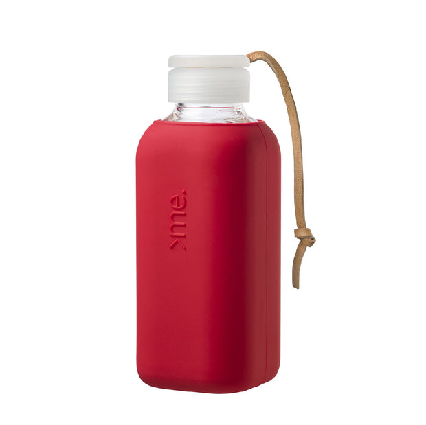 SquireMe - Y1 Collection: Fire Red Glass Water Bottle 600ml