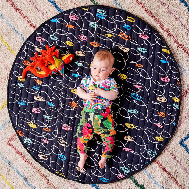 Kip & Co - Chalk Board Black Quilted Play Mat