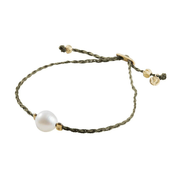 Fairley - Pearl Rope Bracelet - Olive