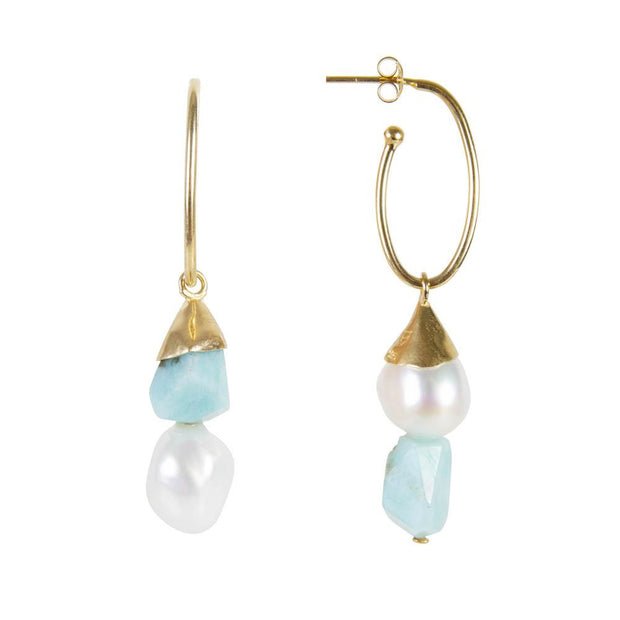 Fairley - Pearl Blue Cotton Candy Drops - Gold