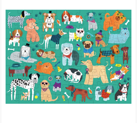 Cats & Dogs Double Sided 100 Piece Puzzle