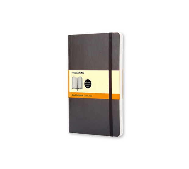 Moleskine - Classic Soft Cover Notebook - Ruled - Large - Black