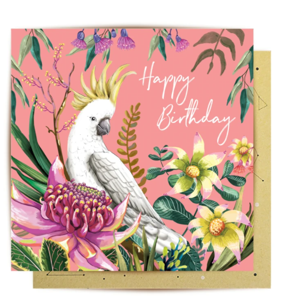 Cockatoo Paradiso - Birthday Card
