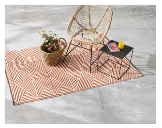 Shanghai Outdoor Plastic Rug - Burnt Orange