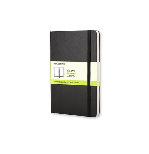 Moleskine - Classic Hard Cover Notebook - Plain - Large Black
