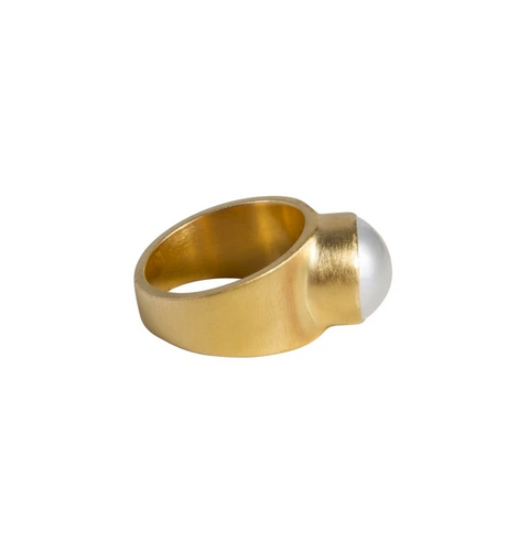 Pearl Dome Ring - Gold