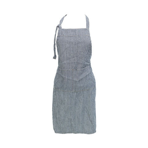 Classic Stripe Adjustable Apron - Navy