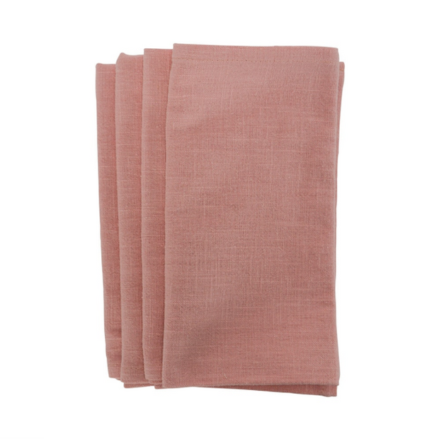 Annabel Trends - Stonewash Napkin 4pc Set - Pink