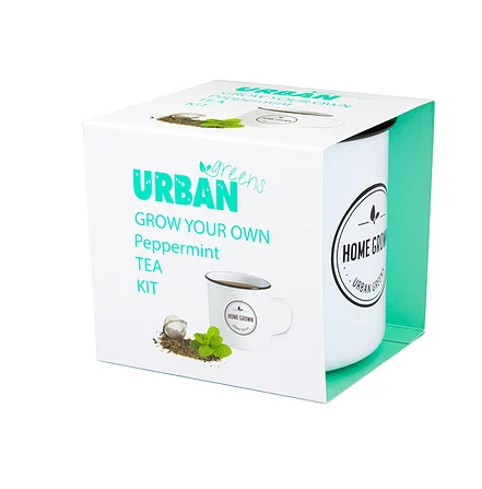 Urban Greens: Grow Your Own Peppermint Tea Kit