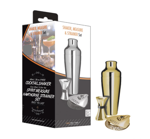 Uber Shake, Measure & Strain Kit Gold