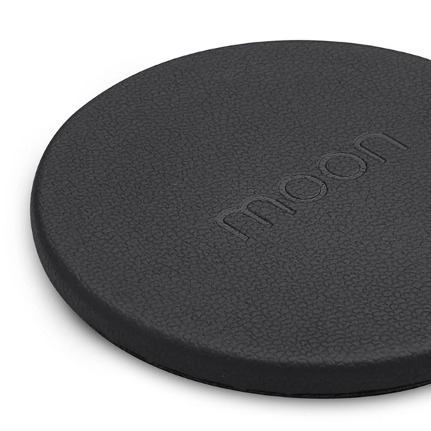 Moon - Wireless Charging Pad - Black Leather