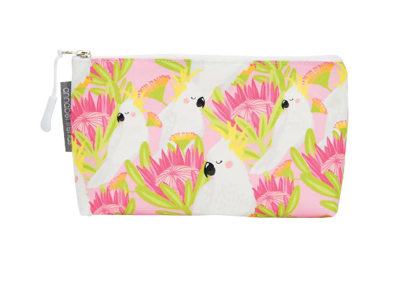Annabel Trends - Pink Cockatoo Cosmetic Bag